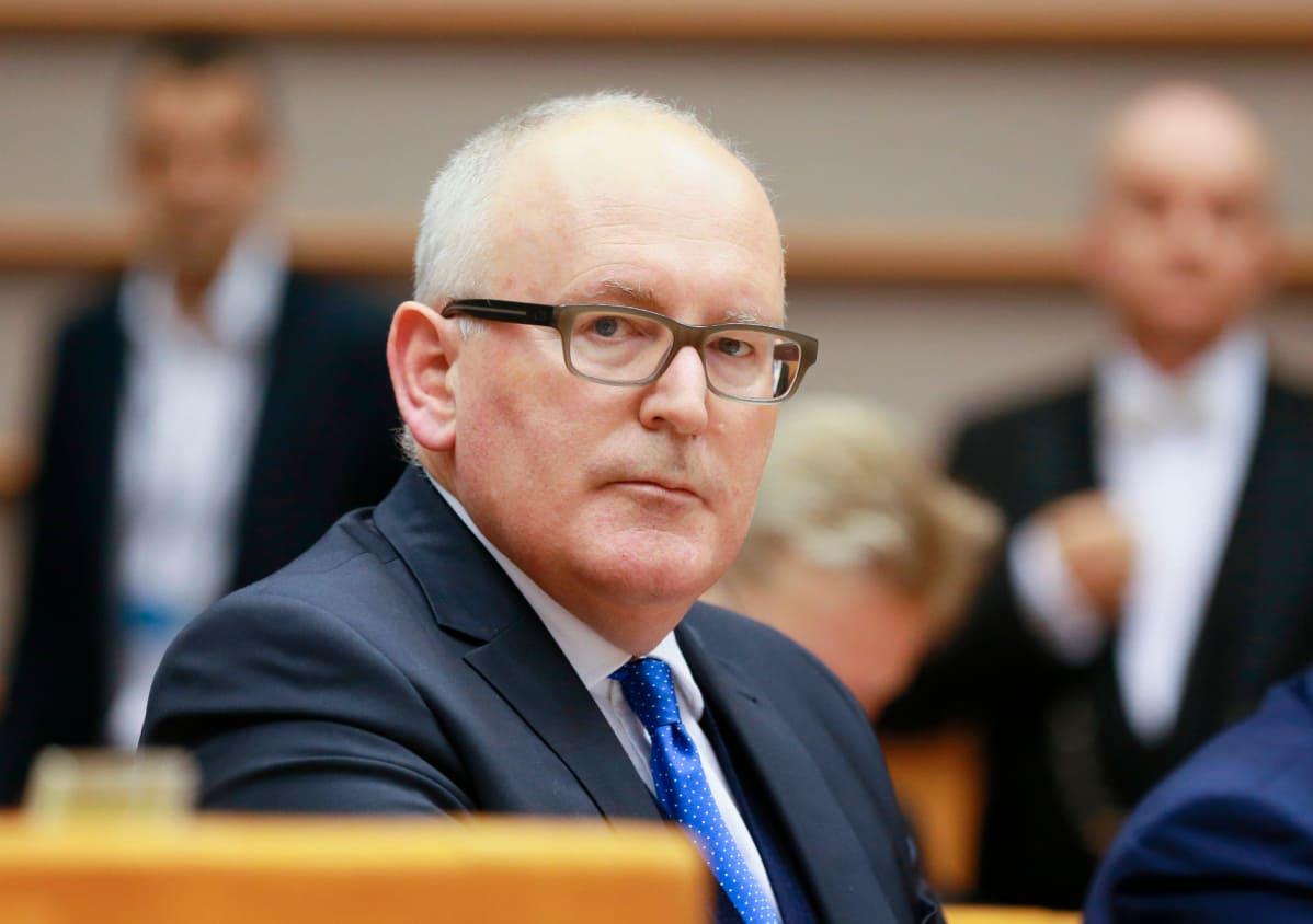 Komission varapuheenjohtaja Frans Timmermans osallistui Unkari-keskusteluun Euroopan parlamentissa.