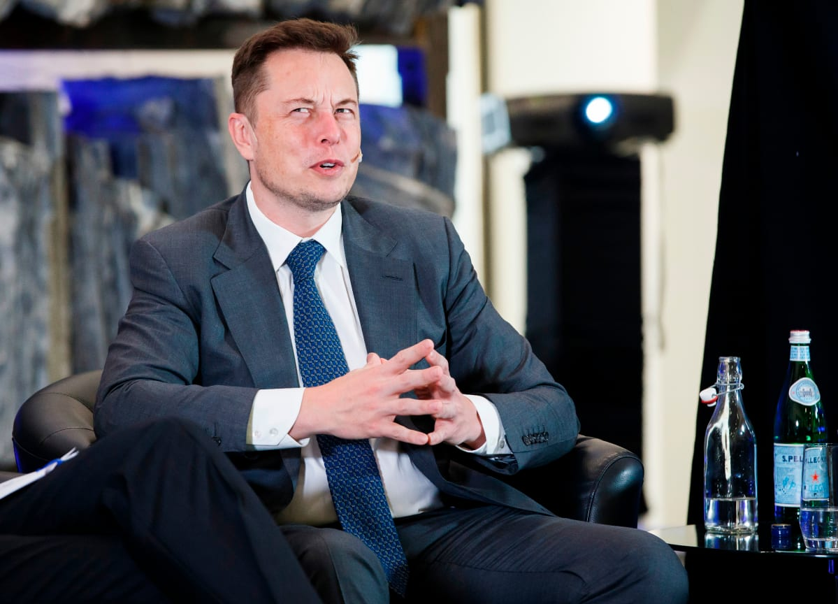 Kuvassa Elon Musk