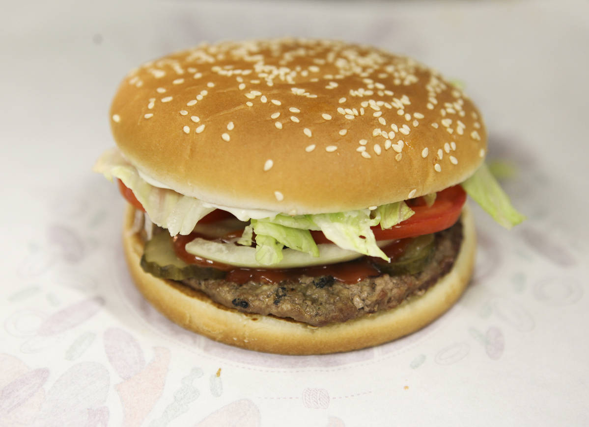 Burger Kingin Whopper-hampurilainen.