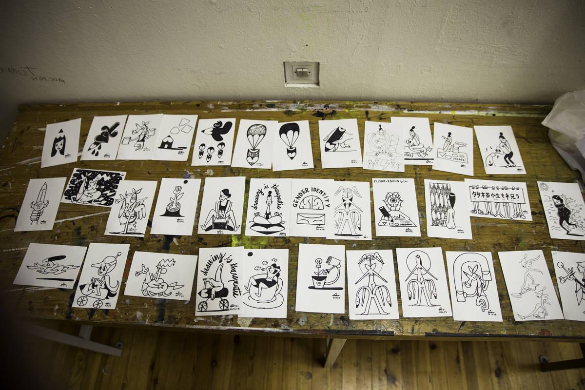 Shieko Reton piirustuksia.