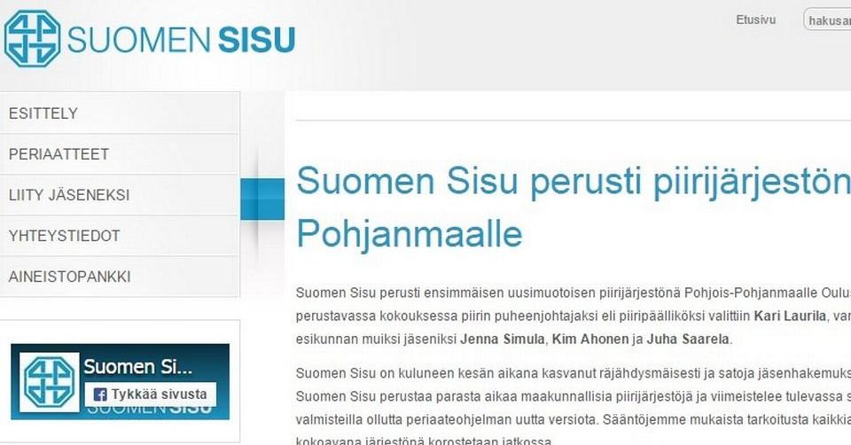 Suomen Sisu rakentaa maakuntaorganisaatiota – tuorein piiri Keski-Pohjanmaalle | Yle Uutiset ...