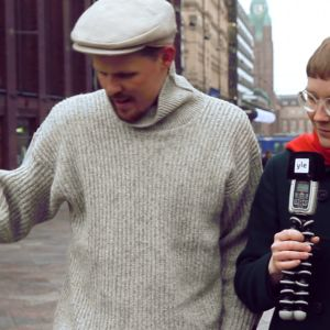Jussi Nygren (toimittaja) ja oikealla Johanna Rämö (matemaatikko)