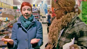 Jenni ja Alvine kaupassa