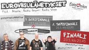 Ylen Euroviisulähetykset Wienistä toukokuussa 2015