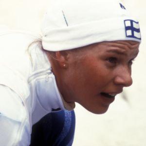 Hiihtäjä Marjo Matikainen 1987