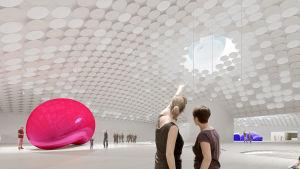 Amos Anderssonin uusi taidemuseo, havainnekuva
