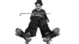 Charles Chaplin elokuvassa The Rink, 1916 (dokumentista Kulkurin synty)