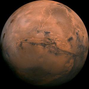 Mars-planeetta koko