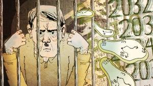 Hitler kärsii keinotekoisesti satoihin vuosiin pidennettyä vankeusrangaistusta.