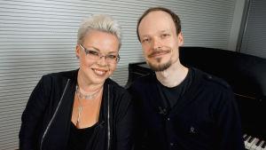 Oopperalaulajat ja sisarukset Johanna Rusanen-Kartano ja Ville Rusanen.
