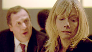 Bassobaritoni Matthew Brook ja näyttelijä Anna Skye musiikkielokuvassa Monteverdin kyynel (2007)