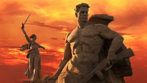 Suuren isänmaallisen sodan muistomerkki Volgogradissa (Stalingradissa)