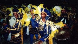Kulkue Rion karnevaaleilla.