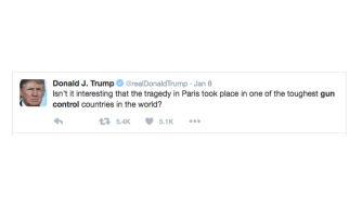 Kuvakaappaus Donald Trumpin twiitistä