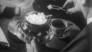 Sokeria pihdeillä kahvikuppiin