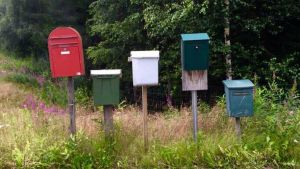 postilaatikot, uusi päivä, kesäkirje