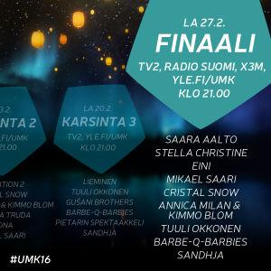 UMK16 kilpailun kulku
