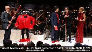 Radion sinfoniaorkesterin Nenäpäivä-konsertti pidettiin 24.10.2014.