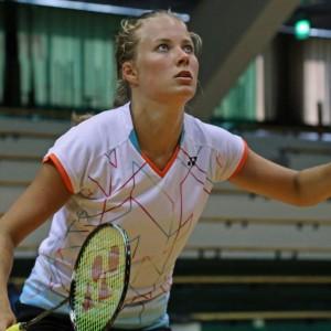 Badmintonspelaren Nanna Vainio 4.8.2015.