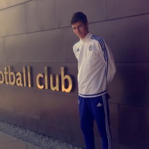 William Rosenlöf testspelade med Londonklubben Chelsea.