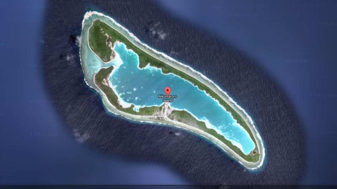 nikumaroro island map
