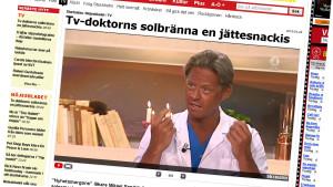 Tv-doktorn Mikael Sandström blev föremål för Twitterstorm.