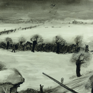 Leo (Lev) Haas: Ankunft eines Transports / Transport Arrival (1942)