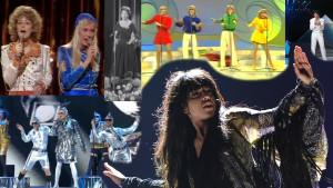 Några bidrag från Eurovisionens historia.