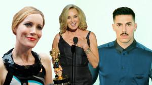 Leslie Mann, Jessica Lange, och Sam Sparro. Photoshoppad bild.