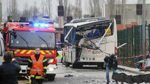 Bussolycka i Frankrike