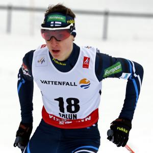 Ilkka Herola imponerade i skidspåret.
