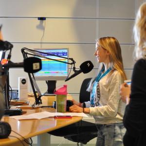 Matilda Panula i Yle X3M:s studio.