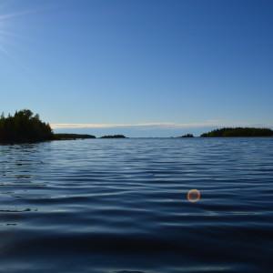 Havsglimt mellan Jobbarsundet och Märakubbsströmmen