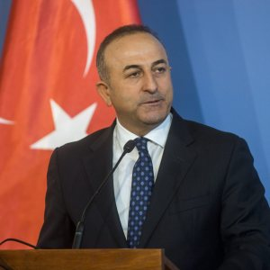 Turkeits utrikesminister Mevlut Cavusoglu i februari 2016.