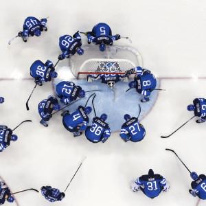 Finland laddar för match.