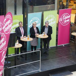 Juha Sipilä, Anu Vehviläinen, Timo Laaninen