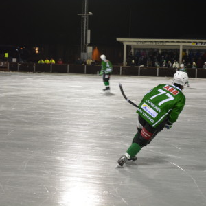 Borgå Akilles i mörkgrön spelskjorta.