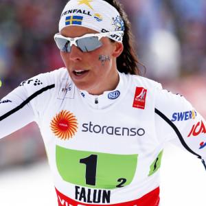 Charlotte Kalla säger att finländskorna hördes på långt håll.