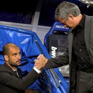 Pep Guardiola och José Mourinho.