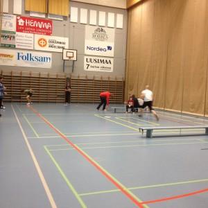 Gymnastiklektion i Lovisa