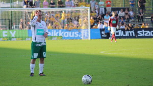 Petteri Forsell laddar för cupfinal.