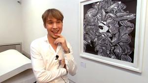 """Andy Warhol är en inspirationskälla till Ville Anderssons teckning """"Waves"""" (Vågor)"""