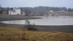 översvämning vid vetekvarnen i andersböle i borgå 11.02.16