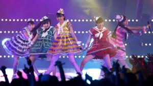 Japanese pop girl group Momoiro Clover Z perform during the MTV Video Music Awards Japan 2013 in Chiba, near Tokyo, Japan,.