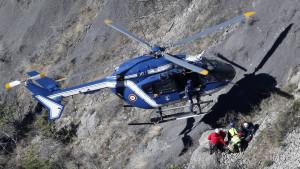 Olycksplats i Le Vernet i de franska Alperna där Germanwings-kraschen ägde rum den 24 mars 2015.