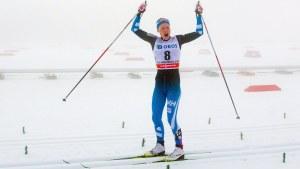 Anne Kyllönen kunde i lugn och ro åka i mål.