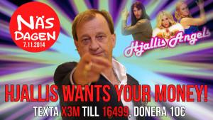 gubbe som pekar, Hjallis Angels inför näsdagen 2014