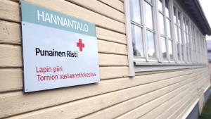 flyktingförläggningen i Torneå 2015