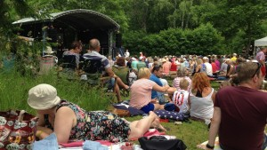 Konsert i parken i Dalsbruk under Baltic Jazz.
