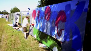 Graffiti på Ruisrock.